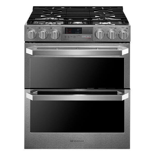 LG SIGNATURE 7.3 cu.ft. Smart wi-fi Enabled Dual Fuel Double Oven Range with ProBake Convection® Product Image